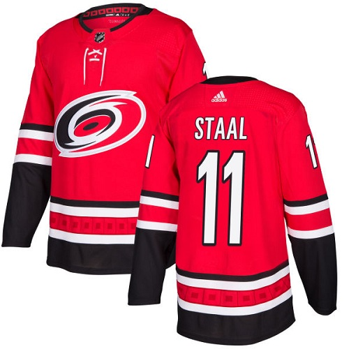 Adidas Men Carolina Hurricanes 11 Jordan Staal Red Home Authentic Stitched NHL Jersey