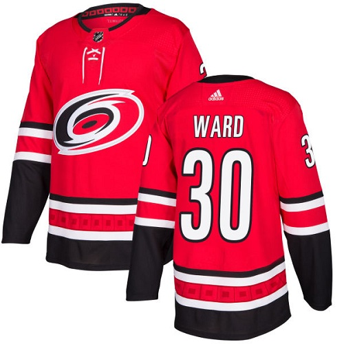 Adidas Men Carolina Hurricanes 30 Cam Ward Red Home Authentic Stitched NHL Jersey