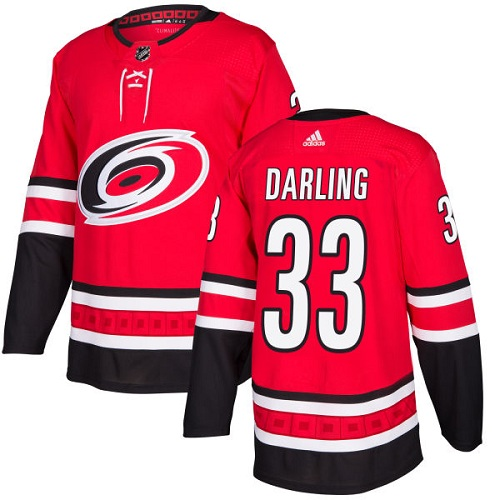 Adidas Men Carolina Hurricanes 33 Scott Darling Red Home Authentic Stitched NHL Jersey