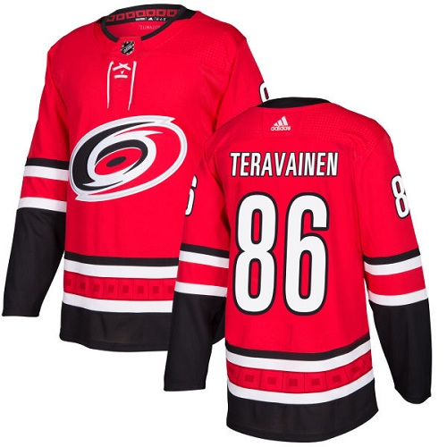 Adidas Men Carolina Hurricanes 86 Teuvo Teravainen Red Home Authentic Stitched NHL Jersey