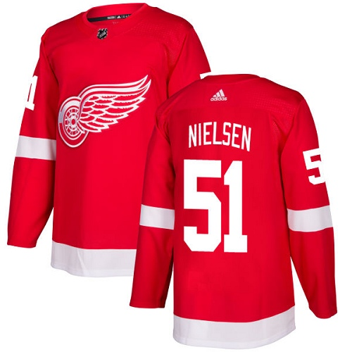 Adidas Men Detroit Red Wings 51 Frans Nielsen Red Home Authentic Stitched NHL Jersey