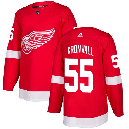 Adidas Men Detroit Red Wings 55 Niklas Kronwall Red Home Authentic Stitched NHL Jersey