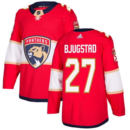 Adidas Men Florida Panthers 27 Nick Bjugstad Red Home Authentic Stitched NHL Jersey