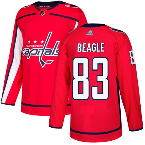 Adidas Men Washington Capitals 83 Jay Beagle Red Home Authentic Stitched NHL Jersey