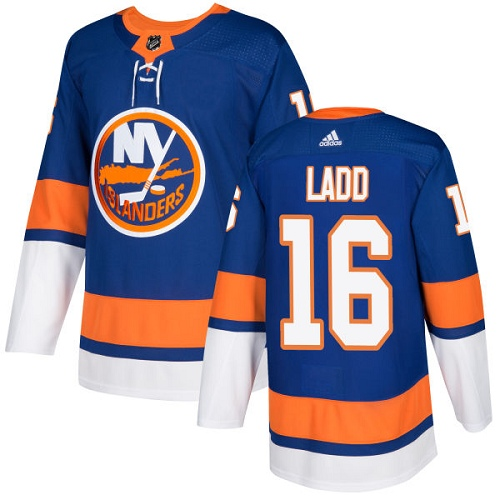 Adidas NEW York Islanders 16 Andrew Ladd Royal Blue Home Authentic Stitched Youth NHL Jersey