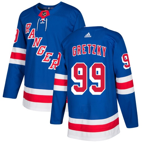 Adidas New York Rangers 99 Wayne Gretzky Royal Blue Home Authentic Stitched Youth NHL Jersey