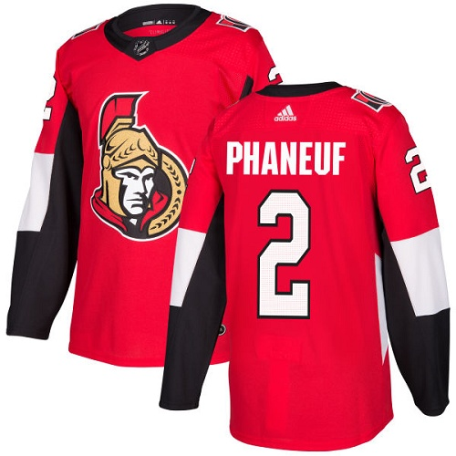 Adidas Ottawa Senators 2 Dion Phaneuf Red Home Authentic Stitched Youth NHL Jersey