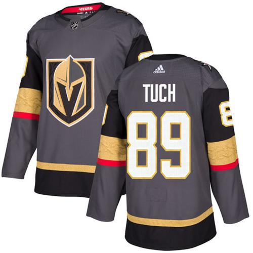 Adidas Vegas Golden Knights 89 Alex Tuch Grey Home Authentic Stitched Youth NHL Jersey