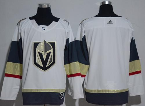 Adidas Vegas Golden Knights Blank White Road Authentic Women Stitched NHL Jersey