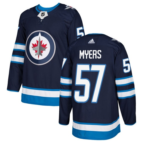 Adidas Winnipeg Jets 57 Tyler Myers Navy Blue Home Authentic Stitched Youth NHL Jersey