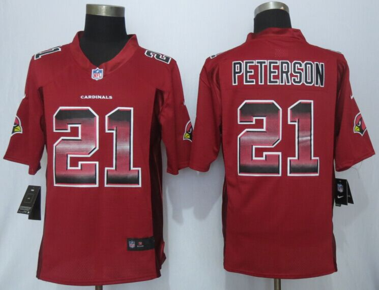 Arizona Cardicals 21 Peterson Red Strobe 2015 New Nike Limited Jersey