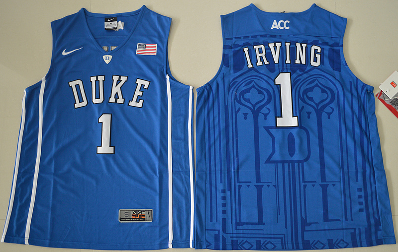 Duke Blue Devils Kyrie Irving 1 V Neck College Basketball Authentic Jersey - Blue