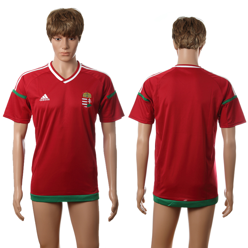 European Cup 2016 Hungary home blank red AAA+ soccer jersey