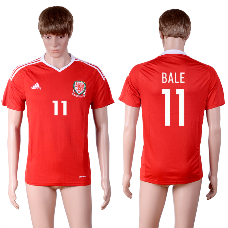 European Cup 2016 Welsh home 11 Red AAA+ Soccer Jersey