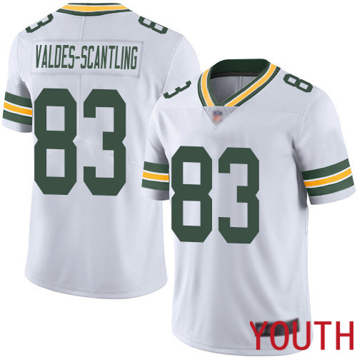 Green Bay Packers Limited White Youth 83 Valdes-Scantling Marquez Road Jersey Nike NFL Vapor Untouchable