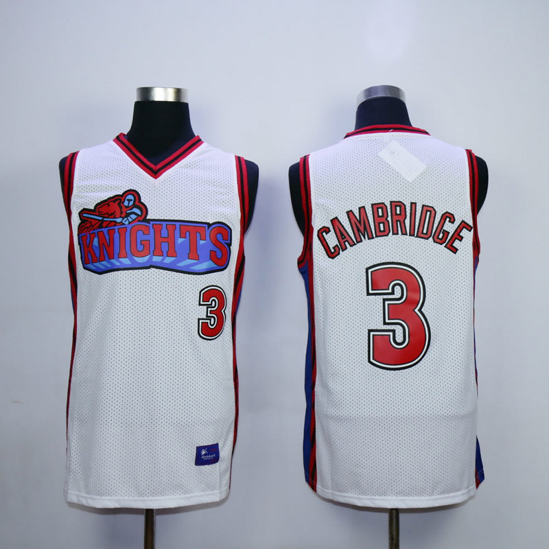 Like Mike Movie Los Angeles Knights 3 Calvin Cambridge White jersey.