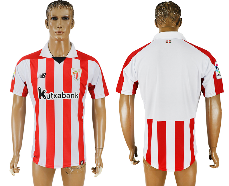 Men 2017-2018 club Athletic Bilbao home aaa version soccer jersey