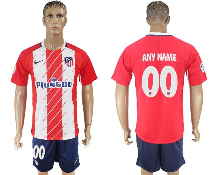Men 2017-2018 club Atletico Madrid home customized red soccer jersey