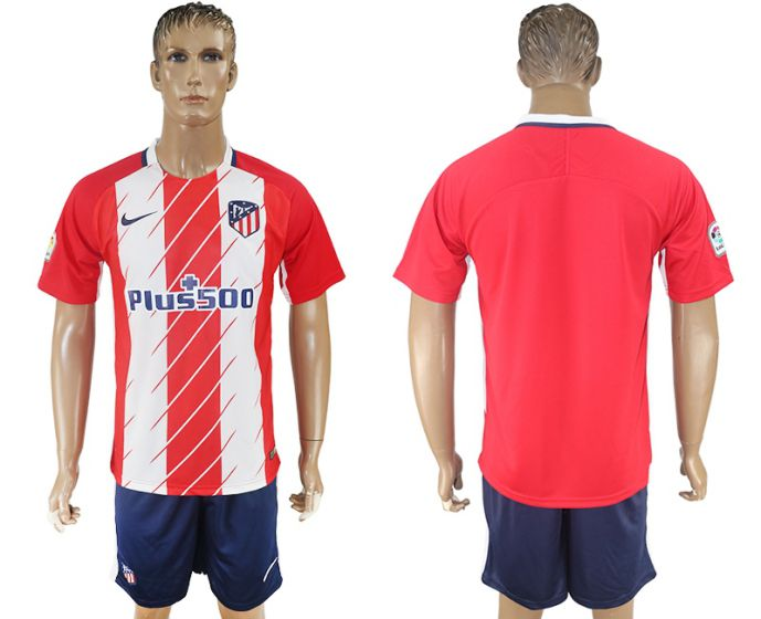 Men 2017-2018 club Atletico Madrid home red soccer jersey