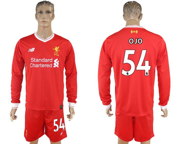 Men 2017-2018 club Liverpool home long sleeves 54 soccer jersey