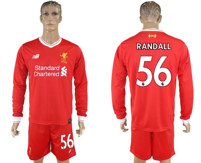 Men 2017-2018 club Liverpool home long sleeves 56 soccer jersey