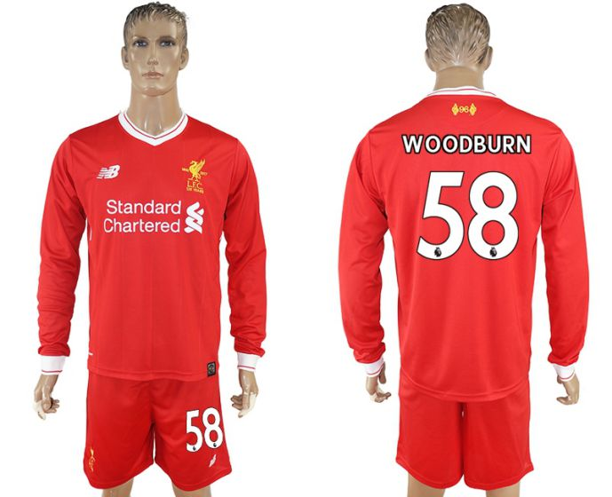 Men 2017-2018 club Liverpool home long sleeves 58 soccer jersey