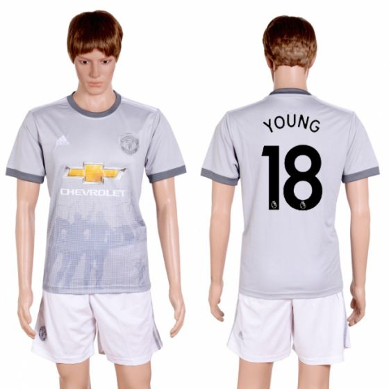 Men 2017-2018 club Manchester united second away 18 grey soccer jersey