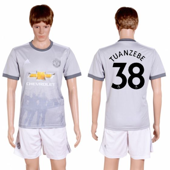 Men 2017-2018 club Manchester united second away 38 grey soccer jersey