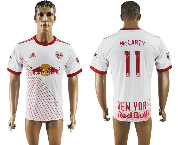 Men 2017-2018 club New York Red Bulls home aaa version 11 white soccer jersey