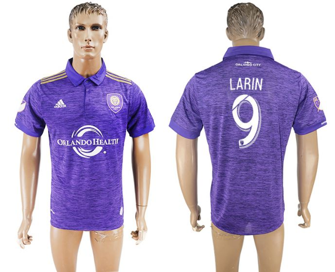 Men 2017-2018 club Orlando City home aaa version 9 purple soccer jersey