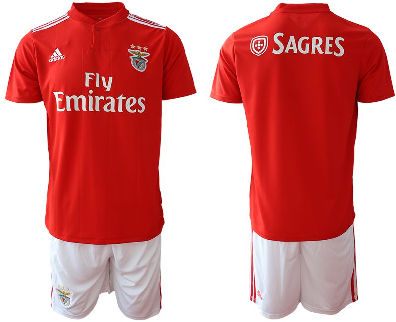 Men 2018-2019 club SL Benfica home Blank red Soccer jersey