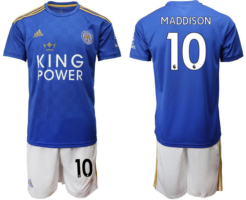 Men 2019-2020 club Leicester City home 10 blue Soccer jersey