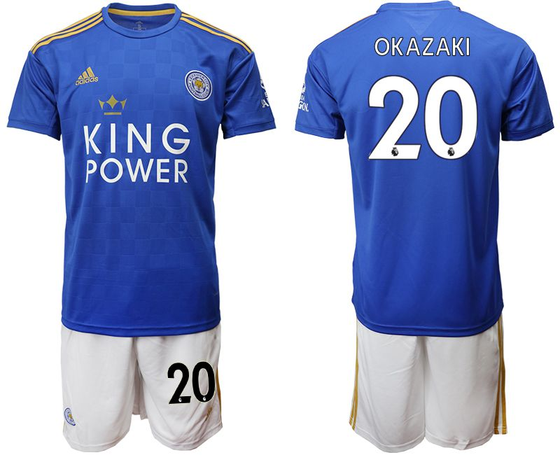 Men 2019-2020 club Leicester City home 20 blue Soccer jersey