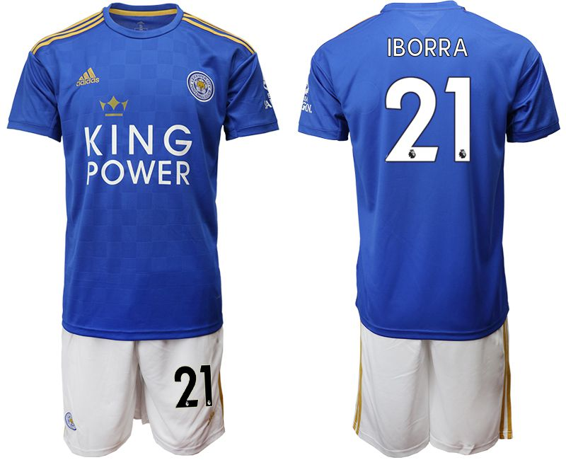 Men 2019-2020 club Leicester City home 21 blue Soccer jersey