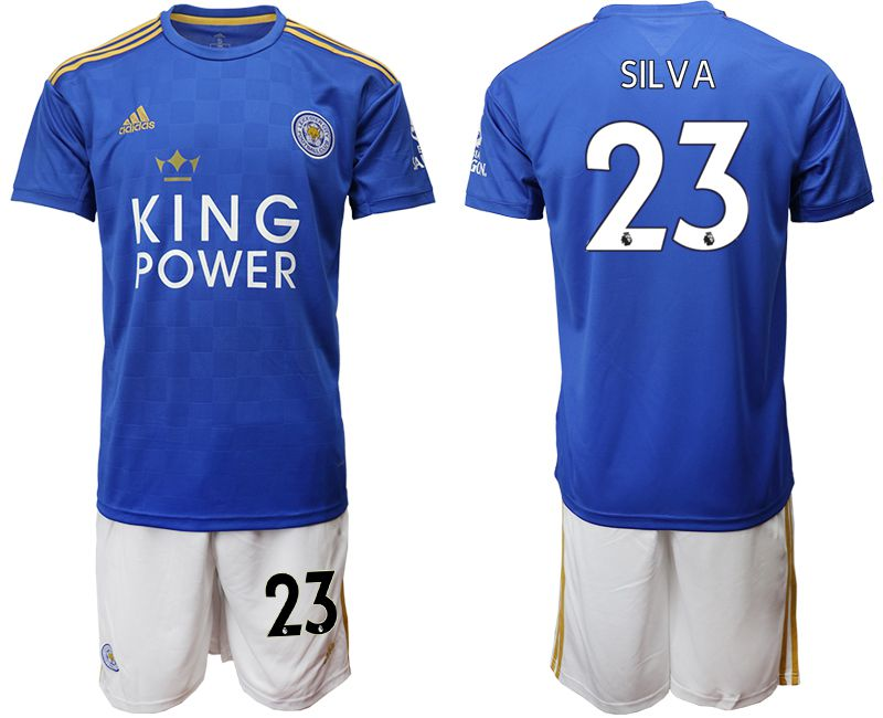 Men 2019-2020 club Leicester City home 23 blue Soccer jersey
