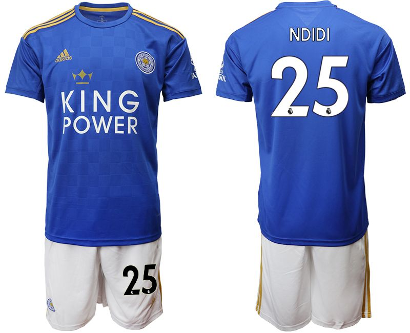 Men 2019-2020 club Leicester City home 25 blue Soccer jersey