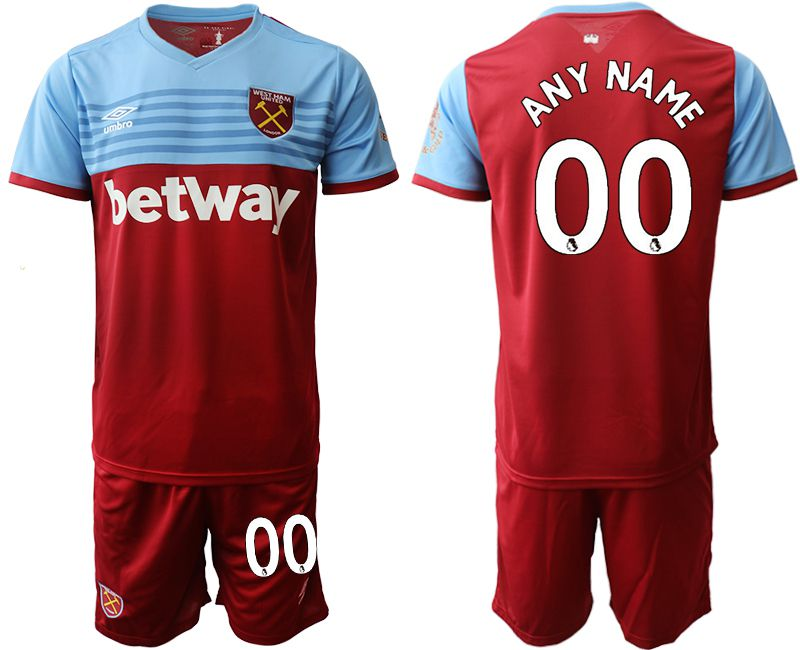 Men 2019-2020 club West Ham United home customized red Soccer jersey