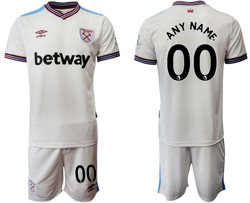 Men 2019-2020 club West Ham United home customized white Soccer jersey