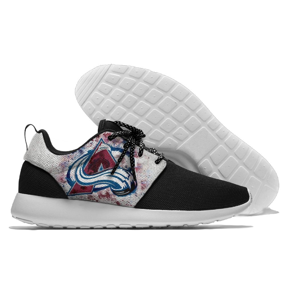 Men  NHL Colorado Avalanche Roshe style Lightweight Running shoes10