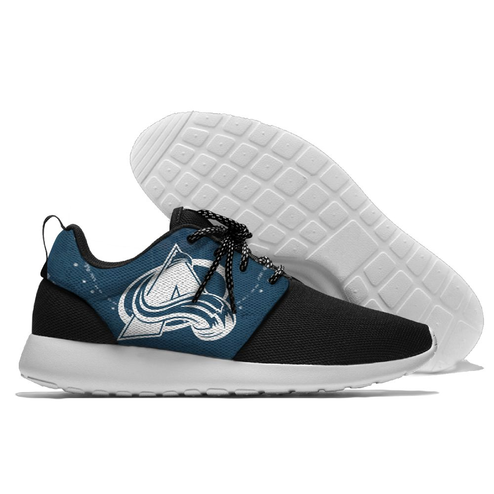 Men  NHL Colorado Avalanche Roshe style Lightweight Running shoes 7