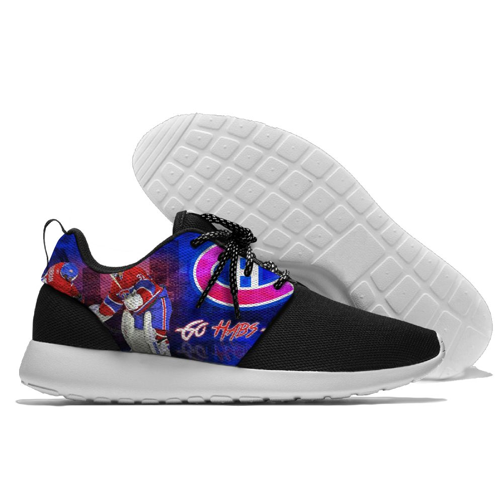Men  NHL Montreal Canadiens Roshe style Lightweight Running shoes 3