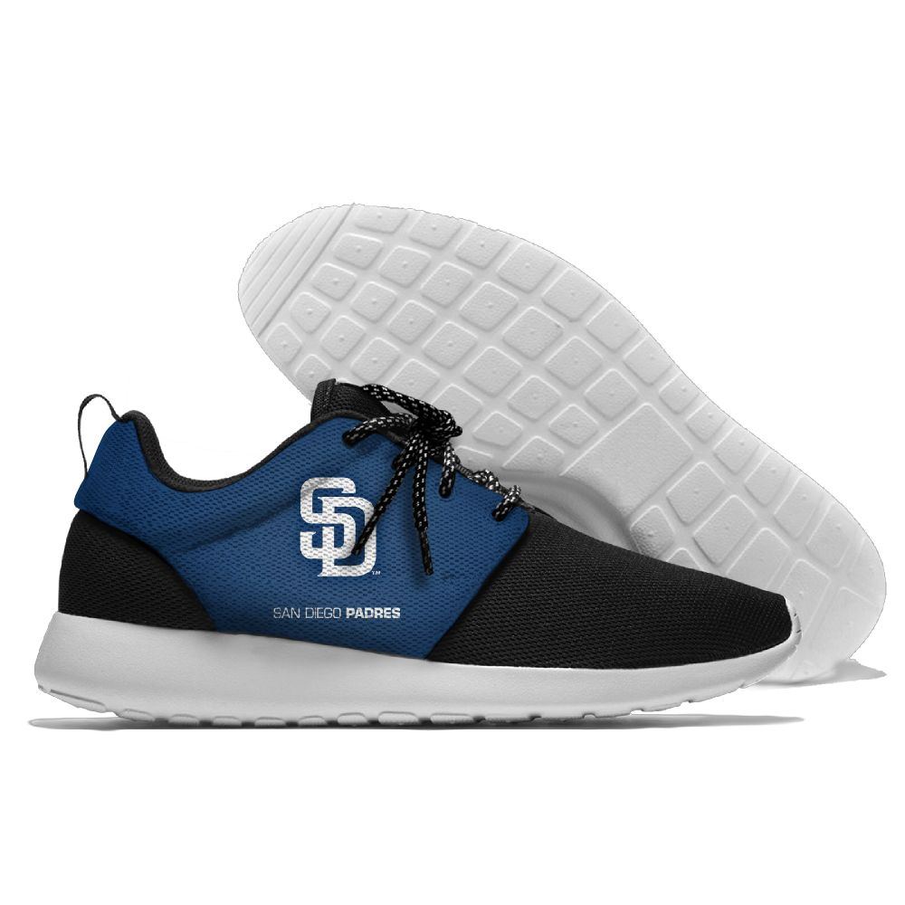 Men  San Diego Padres Roshe style Lightweight Running shoes 2