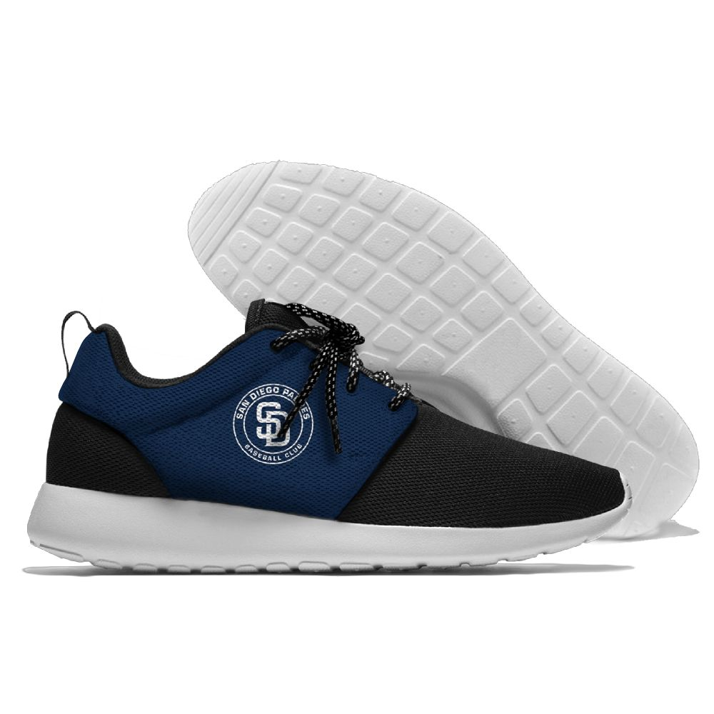 Men  San Diego Padres Roshe style Lightweight Running shoes 3