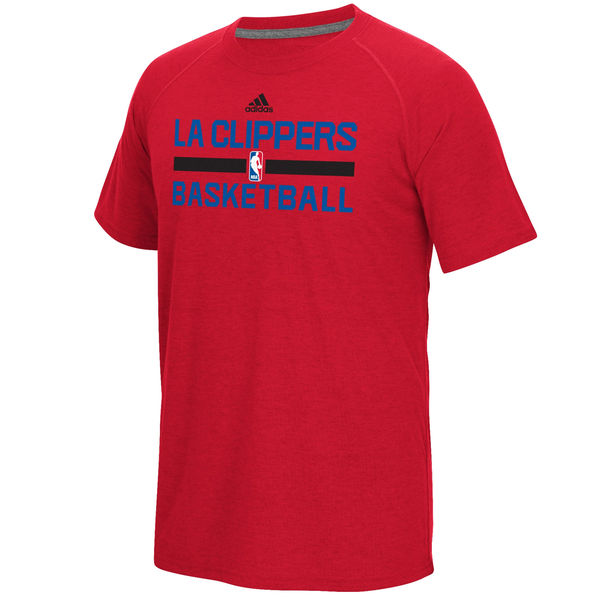 NBA Men Los Angeles Clippers adidas OnCourt Climalite Ultimate TShirt Red
