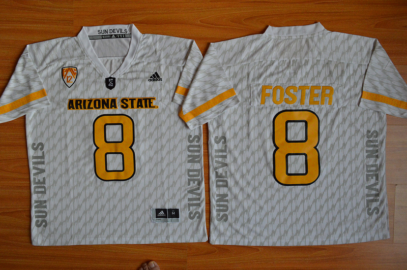 NCAA Arizona State Sun Devils 8 D.J. Foster White Desert Ice Football Jersey